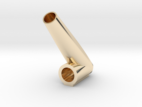 *Lite* Glass Globe Atomiz 14mm Bong Stem Adapter in 14k Gold Plated Brass