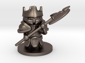 Heavy Knight in Polished Bronzed Silver Steel