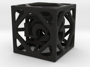 Cage Die6 in Black Premium Versatile Plastic