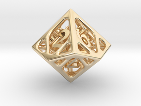 Cage d10 in 14K Yellow Gold