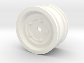 Wide 5 VW Wheel for M Series RC Cars in White Processed Versatile Plastic
