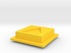 Disco Robo FF/RW button in Yellow Processed Versatile Plastic