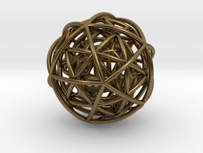 pendant platon + interlocked in Natural Bronze (Interlocking Parts)