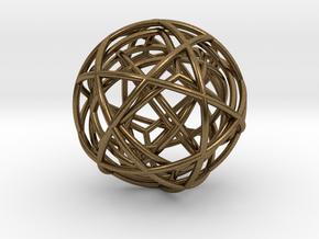pendant platon - interlocked in Natural Bronze (Interlocking Parts)