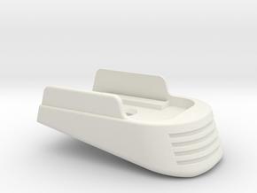 SIG P365 - Medium Extended Base Pad in White Premium Versatile Plastic