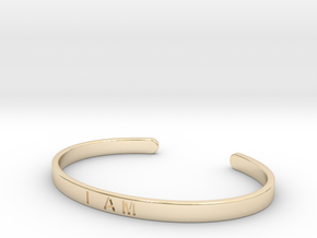 I Am Cuff in 14K Yellow Gold: Small