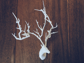 Cherry Blossom Tree Deer head (Japanese SAKURA tre in White Natural Versatile Plastic