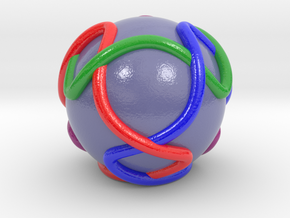 Color Link with Tetrahedral Symmetry in Glossy Full Color Sandstone