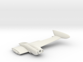 Cessna421A-144scale-04-LeftWing in White Natural Versatile Plastic