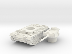 panzer III L scale 1/100 in White Natural Versatile Plastic