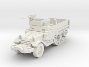 M9A1 halftrack scale 1/87 in White Natural Versatile Plastic