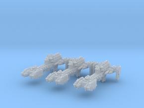 Gladiator Frigates (3) (Alternate) in Smooth Fine Detail Plastic