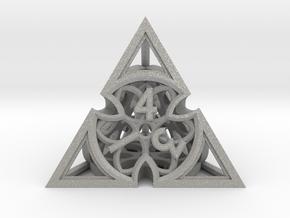 Gothic Rosette Die4 in Aluminum