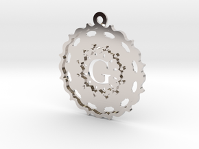 Magic Letter G Pendant in Rhodium Plated Brass