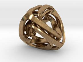 Twisted Tetrahedron in Natural Brass: Small
