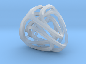 Twisted Tetrahedron (Thin) in Smooth Fine Detail Plastic: Small