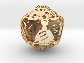 Large Premier d20 in 14K Yellow Gold