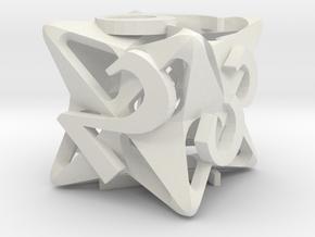Pinwheel Die6 in White Premium Versatile Plastic