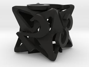 Pinwheel Die6 in Black Premium Versatile Plastic