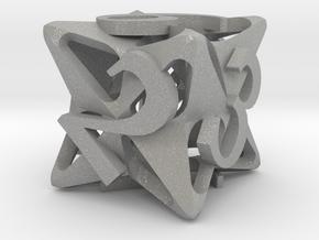 Pinwheel d6 in Aluminum