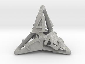 Pinwheel d4 in Aluminum