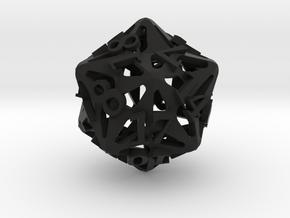 Pinwheel Die20 in Black Premium Versatile Plastic