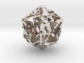 Pinwheel d20 in Platinum