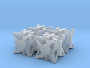 Fudge Pinwheel d6 4d6 Set in Smooth Fine Detail Plastic