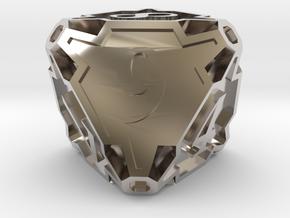 Premier Die8 in Rhodium Plated Brass