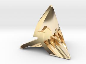 Frameless D4(Large) in 14k Gold Plated Brass