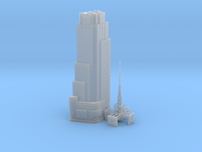 4 Times Square (1:2000) in Smooth Fine Detail Plastic