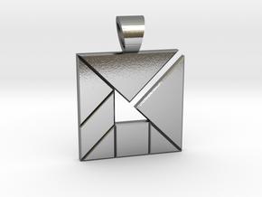 Inner Arrow tangram [pendant] in Polished Silver