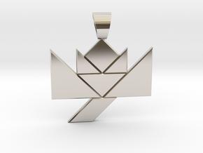 Flower tangram [pendant] in Platinum