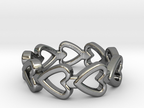 Valentine Ring in Fine Detail Polished Silver: 4.75 / 48.375
