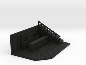 HO Scale Saloon - Interior Insert for Empty in Black Premium Versatile Plastic