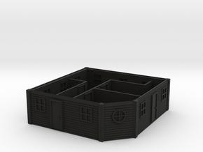 HO Scale Saloon Interior - Top Floor in Black Premium Versatile Plastic