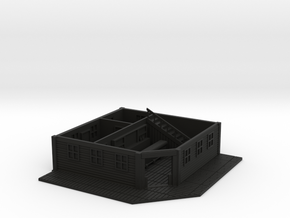 HO Scale Saloon Interior- Bottom Floor in Black Premium Versatile Plastic