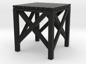 HO Water Tower Platform in Black Premium Versatile Plastic
