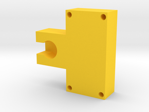 Motor Mount Module in Yellow Processed Versatile Plastic