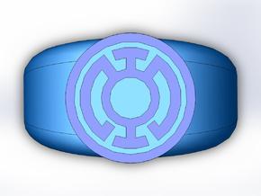 Blue Lantern Ring in Full Color Sandstone
