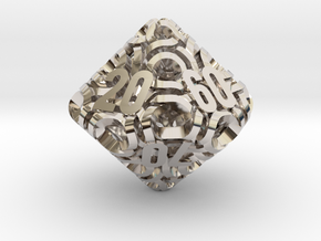 Ring d10 Decader in Rhodium Plated Brass