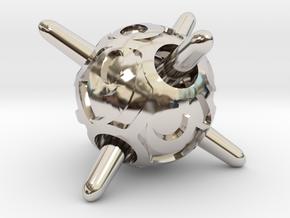 Sputnik d8 in Rhodium Plated Brass
