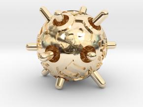 Sputnik d12 in 14K Yellow Gold
