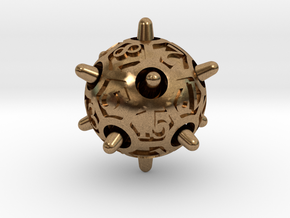 Sputnik Die20 in Natural Brass