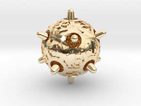 Sputnik d20 in 14k Gold Plated Brass