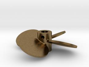 """1.75"""" - BBP 25º LH - 3/16"""" Shaft in Natural Bronze"""
