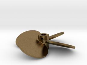 """2.25"""" - BBP 25º LH - 3/16"""" Shaft in Natural Bronze"""
