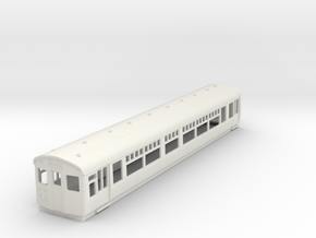 O-87-lner-dr-trailer-1st-coach in White Natural Versatile Plastic