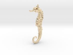 Seahorse Pendant in 14k Gold Plated Brass