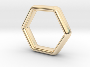 Hexi Wedding Ring US Size 7 (UK Size O) in 14K Yellow Gold